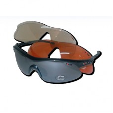 POLAR Sunglasses SHINY ALU. BLACK