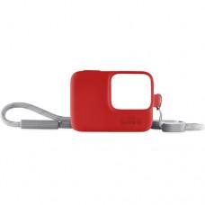 GoPro Hero 7 Funda y Cordón Ajustable - Rojo