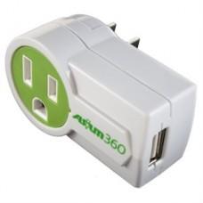 REGLETA-MINI CARGADOR ASIUM 1 TOMA Y 1-USB PORTATIL