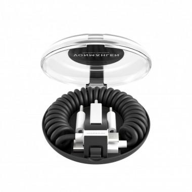 Cable Vonmahlen allroundo USB-A a Micro-USB con adaptador USB-C y Lightning - Negro