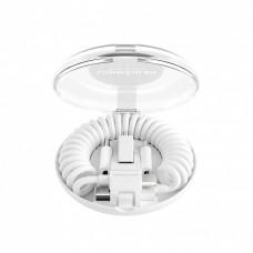 Cable Vonmahlen allroundo USB-A a Micro-USB con adaptador USB-C y Lightning - Blanco