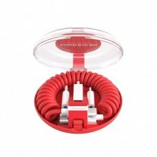 Cable Vonmahlen allroundo USB-A a Micro-USB con adaptador USB-C y Lightning - Rojo