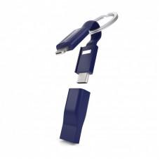 Cable de carga Vonmahlen High Five USB-A USB-C Micro-USB Lightning - Azul