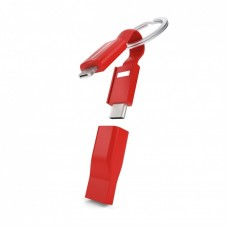 Cable de carga Vonmahlen High Five USB-A USB-C Micro-USB Lightning - Rojo