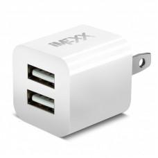 Cargador iMEXX doble USB 2.1A Y 1A. - Blanco