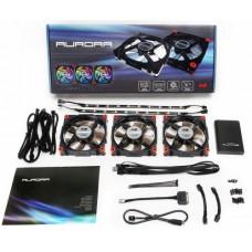 Ventilador IN WIN Aurora RGB - 3 x 120 mm - 2 x 30cmLed - CRemoto
