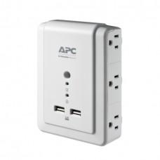 Regleta APC supresor 6 Tomas - 2 USB Montaje de pared