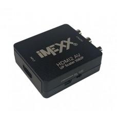 Convertidor Imexx HDMI A RCA/AV/Stereo 1080p
