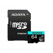 Memoria MicroSD 64GB Adata Premier Pro V30 U3 A2 100-80MB