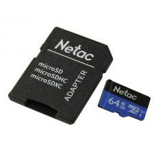 Memoria MicroSD 64GB Netac P500 Clase 10